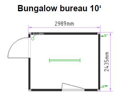 Bureau 10 pieds