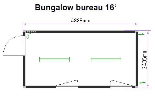 Bureau 16 pieds