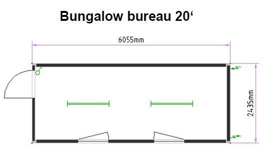 Bureau 20 pieds