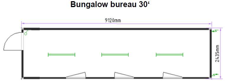 Bureau 30 pieds