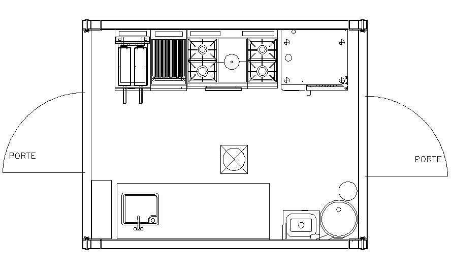 Plan de cuisine transportable ISO 10 CU 30-24